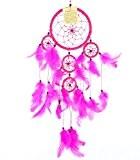 Attrape Rêve Rose Capteur de rêves Attrapeur Piège Rêves Cauchemar Plumes Artisanal Dream catcher Artisanal Dreamcatcher rose pink