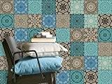 Auto-adhésif décoratif carreau | Art de tuiles mural - Aménagement de cuisine | Design Marocain | 10x10 cm (20 pièces)