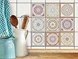 Autocollant muraux pour carreaux de ciment | Revêtement mural pour carrelage salle de bain et credence cuisine | PVC Stickers ...
