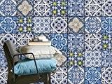 Autocollant pour carreaux de ciment - Adhésif Sticker en PVC | Décalque de mur - Revêtement mural salle de bain ...