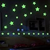 Autocollants lumineux, Mture Etoiles Fluorescents & phosphorescents dans l'obscurité Wall Sticker Décoration murale Chambre de bébé enfant 3 feuilles A4 ...