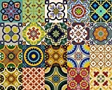backsplash Stickers pour carrelage 24 pc de Talavera carrelage traditionnel autocollants Stickers pour carrelage de cuisine & de Salle de Bain ...