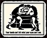 Bague de boxe mains peut ¡votre t Hit en métal style vintage art Sport Plaque en métal 30,5x 30,5cm carré ...