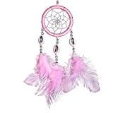 Bague simple pink Dream Catcher plumes voiture artisanat décoration cadeaux Festival