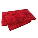 Bain et toilette 100% coton Paillette Ensemble de tapis de bain de salle de bain wc rouge (Standard)