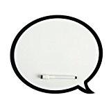 Balvi 23869 Tableau Mémo magnétique Bulle Talk Avec feutre effaçable aimanté Blanc et noir