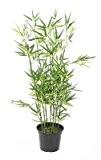 Bambou artificiel arbuste cannes vertes - plante d intérieur - H.90cm vert - taille : 90 cm