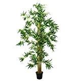 Bambou artificiel avec de nombreuses cannes de bambou naturelles, 180 cm - plante exotique artificielle - artplants