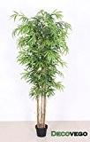 Bambou Plante Arbre Artificielle Artificiel 180cm avec Bois véritable Domaine Interne Decovego