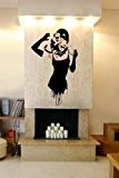 Banksy ' Audrey Hepburn Attacked By Cat ' Wall Sticker Decal 60cm x 100cm by Broomsticker