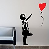 Banksy Balloon Girl Stickers muraux / stickers muraux de mur / transferts / stickers muraux WALL STICKER Decal Large 120 ...