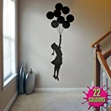 Banksy Balloon Girl - Wall Decal Sticker lounge living room bedroom (Medium) by Wondrous Wall Art