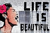 """Banksy - """"la vie est belle"""" papier peint de photo - la vie est belle image de mur - Banksy ..."""