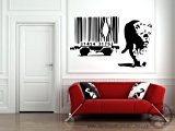 Banksy Leopard Barcode Vinyl Wall Sticker 30cm x 50cm by Broomsticker