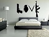 Banksy Love Weapons Decal Wall Sticker 60cm x 86cm by Kult Kanvas