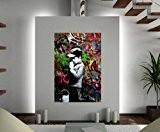 Banksy Poster–Pardonnez nous nos intrusion. '– Livré en une seule pièce. A2–59,4x 41,9cm–594x 420mm
