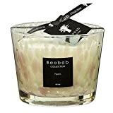 Baobab max10pw Pearls White Bougie en cire Bougie, 10x 7x 10cm