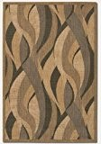 Barhocker couristan 1562/0154Recife jonc de mer naturel/noir tapis de couloir, 2-feet 7,6cm par 7-feet 25,4cm