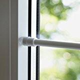 Barre Tringle de serrage pour porte de fenêtre sans perçage pour rideaux Voilage ou porte (60–90cm BLANC)