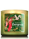 Bath & Body Works Evergreen 3 mèches Bougie parfumée 411,1 gram/411 g