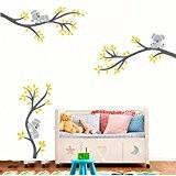 BDECOLL les grands arbres vignette mur mur koala vinylwand salle art pouponnière (gris)