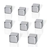 Be Board B3101 Lot de 8 Aimants cubes néodyme pour tableaux magnétiques, 1 x 1 x 1 cm, argent