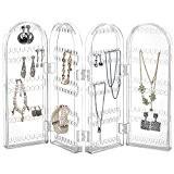 Beautify Porte Boucles d'oreilles Acrylique Repliable Porte bijoux Présentoir Organisateur