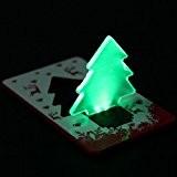 Beautymall Veilleuse pliante et portable LED en forme de sapin de Noël Vert