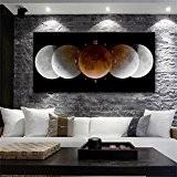 Belle horloge murale de mode Horloge murale Peinture sans cadre Salon Restaurant Moderne Peinture décorative créative Horloge en toile YANGFF-Pendules ...