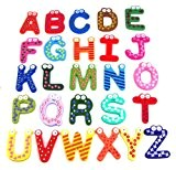 Beyondfashion Fun Lot de 26 magnets en bois constituant l'alphabet