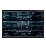 Bleu sarcelle Bois Bienvenue Tapis Intérieur Custom Tapis de porte d'entrée 80x 50cm Paillasson humoristique avec nom personnalisé Tapis de ...