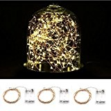 Blinngo 3-Pack Guirlandes Lumineuses à Pile 30 LED 3 Mètres Etanche Extérieure et Intérieur Cuivre Fil, Décoration pour Nouvel An ...