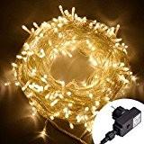 Blinngo Guirlandes Lumineuses 30M 200LED Lumière Etanche IP65 avec Prise EU, Chaîne Eclairage Lampe Ampoule Fil Cuivre sur Câble Transparent ...