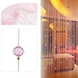 Bluelans® Rideau de fils avec 40perles pour porte ou fenêtre beauté décoratif séparateur de pièce écran anti-mouches pampille store, rose, ...