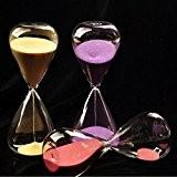 Bluelover 5 minutes sablier Hourglass temps compteur à rebours minuteur horloge Arts décoratifs
