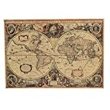 Bluelover Retro Kraft papier 1641 anciens navigation mappemonde Home Decor