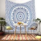 Bohomandala Tenture murale mandala Bleu