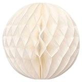 Boules Papier Nid D'abeille Lanternes Pliable 30cm Décor de Fête Mariage Multicouleurs - Beige