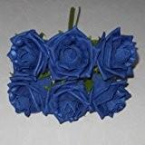 Bouquet de roses artificielles Couleur durable - 21 cm-Bleu