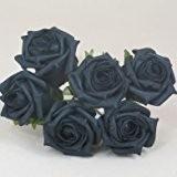 Bouquet de roses artificielles Couleur durable - 21 cm (Noir)