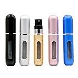 Bouteille de Parfum, Bukm Travel Bouteille de pulvérisation rechargeable 5ml Mini Bouteille de bouteille vide portable de 5 pcs