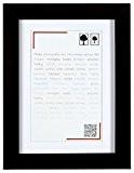 Brio 34612 Smart Noir Cadre 20X30 OUV13X18 Smart No Bois 33x23x3 cm