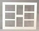Brio Passe-Partout Multivues 40X50 Cm 8 ouvertures 10X15 Cm Blanc Cassé
