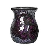 Brûleur à tartelette en cire au Parfum de verre Violet 14 cm