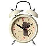 Cadeau d'anniversaire horloge étudiants Cat Creative Alarm Clock Noiseless Enfan