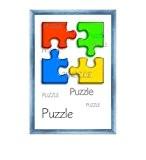"""Cadre à puzzle / photo """"Valencia"""" 50X75cm Bleu clair pour 500-1000 Pièces"""