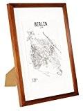 Cadre A3 (29,7x42 cm) en Bois MASSIF - pour Dessins / Affiches / Posters / Photos en format A3 - ...