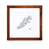 Cadre Carré en bois MASSIF pour Photos 25 x 25 cm (10 x 10 pouces) - Vitre en VERRE - ...