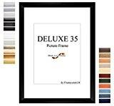 Cadre de Photo d'image DELUXE35 33x50 cm ou 50x33 cm in BLANC avec Anti-reflet verre artificielle et le mdf panneau ...