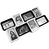 Cadre Multivues Pêle-mêle pour 8 Photos différentes cadre Noir et Blanc à poser format 10 x 15 cm, noir et ...